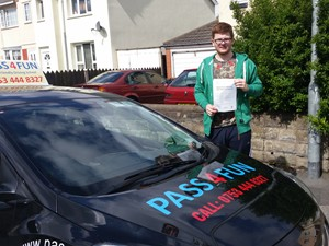 Ben Homer passed his driving test with just four minor faults