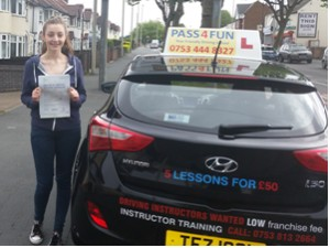 Eleanor from Holly Hall recently passed her driving test with just one minor fault