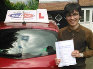 Johnathan had zero minors in his driving test