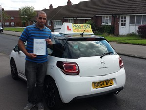 Ash from Dudley took an extended test and passed with 2 minors